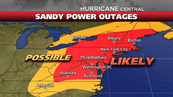 Nyc Weather Guy Weather Channel Power Outage Probability Map
