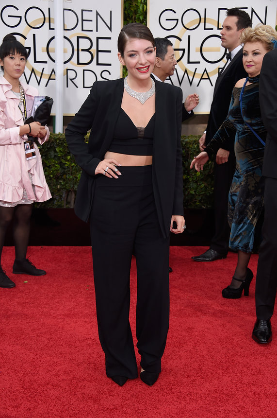 Lorde in Narciso Rodrigez at the Golden Globes