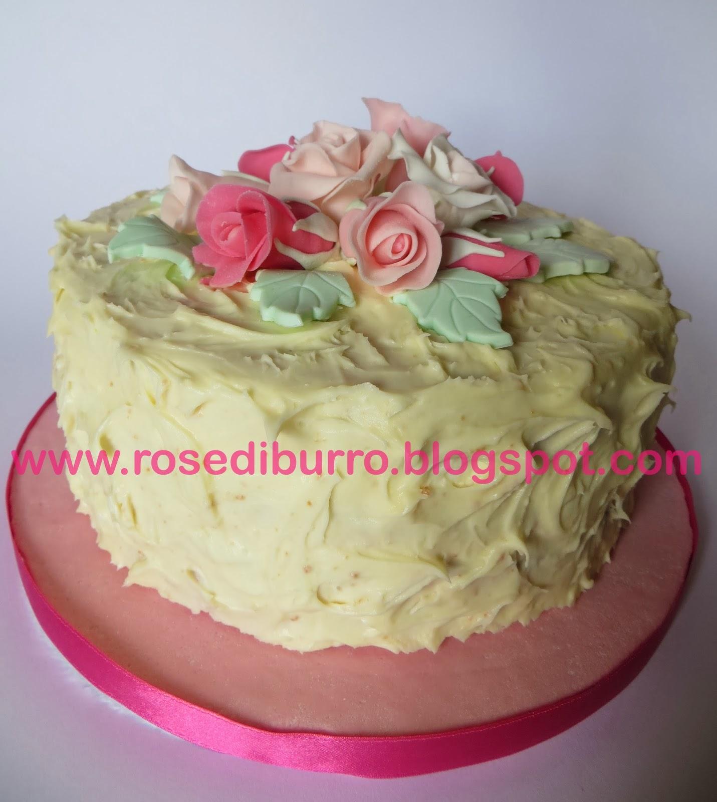 Rose di burro torta bouquet di rose per il compleanno - Colorazione pagina della torta di compleanno ...