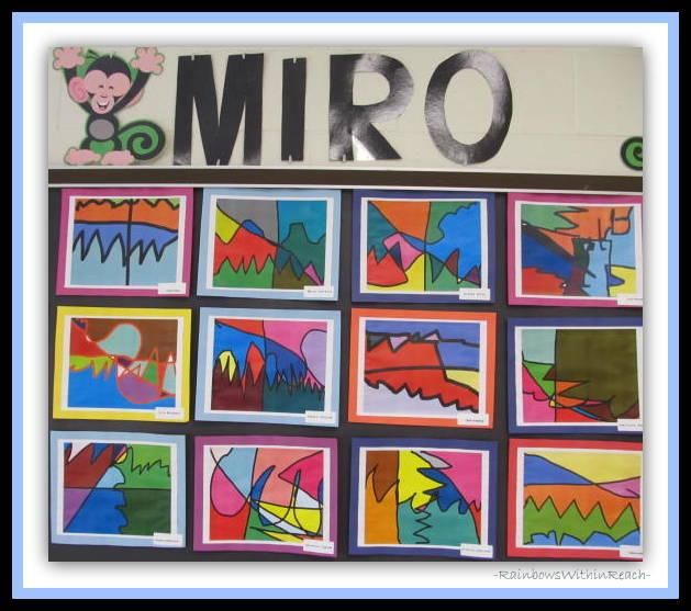 Miro in Elementary Art via RainbowsWithinReach