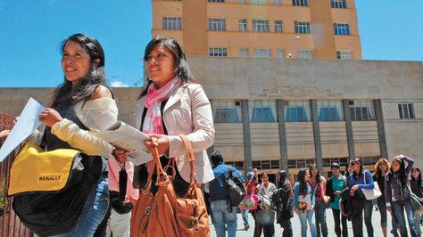 Estudiantes de la UMSA