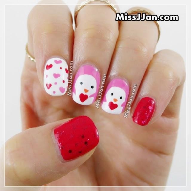 Missjjans beauty blog valentines day penguin nails 2015 valentines day penguin nails 2015 prinsesfo Images