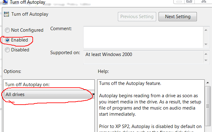 pendrive autoplay off