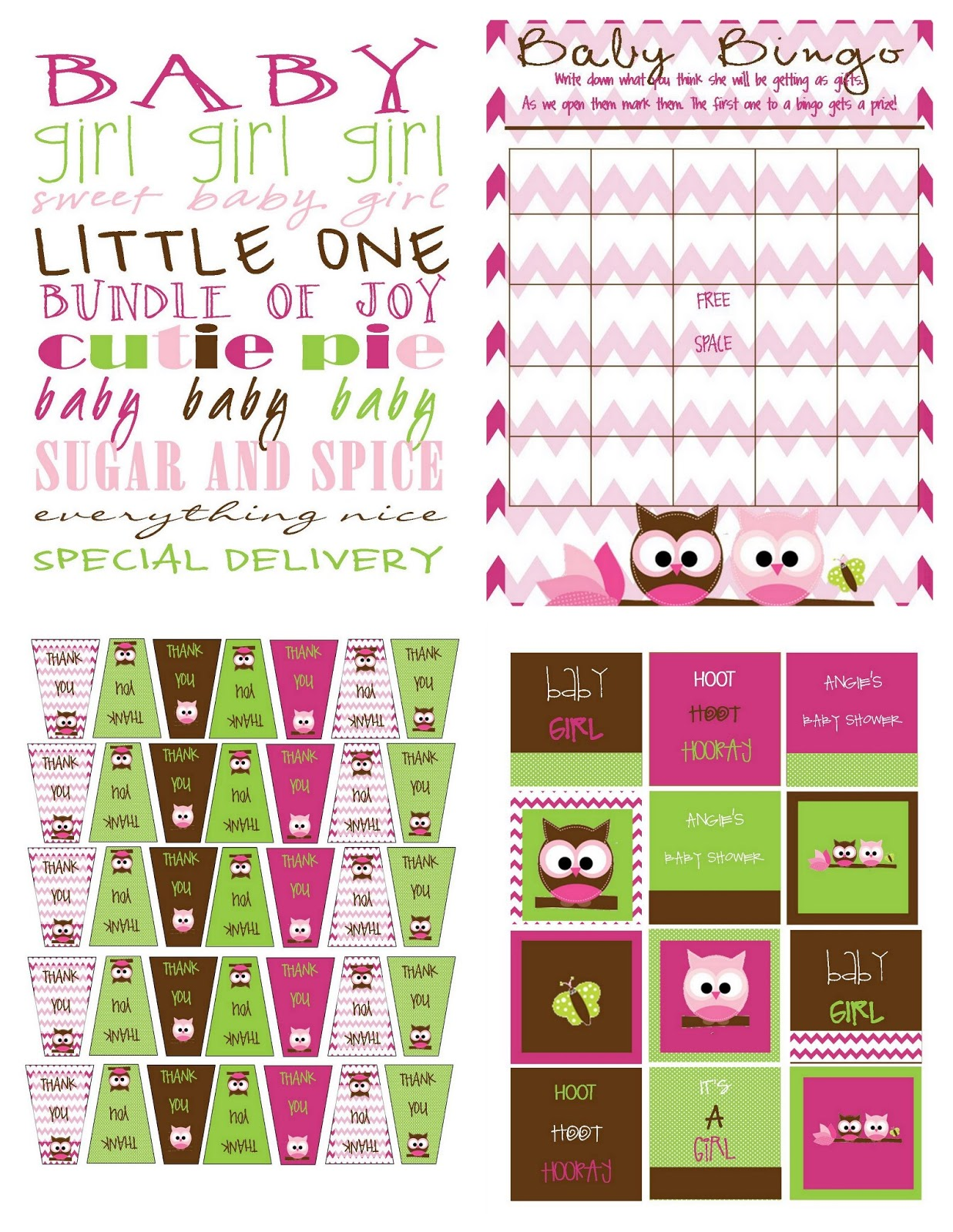 Recipes from stephanie owl shower invite stuff shower1g pronofoot35fo Images