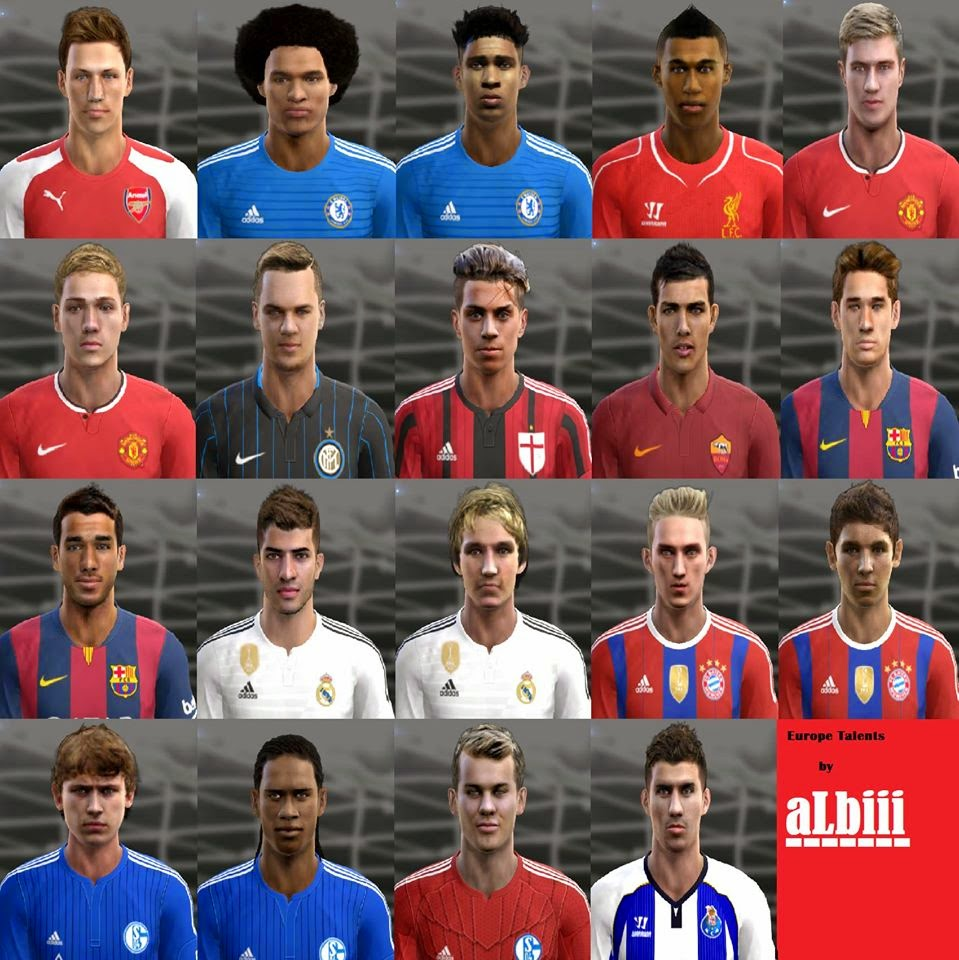 PES 2013 Europe Talents facepack 2015 by aLbiii