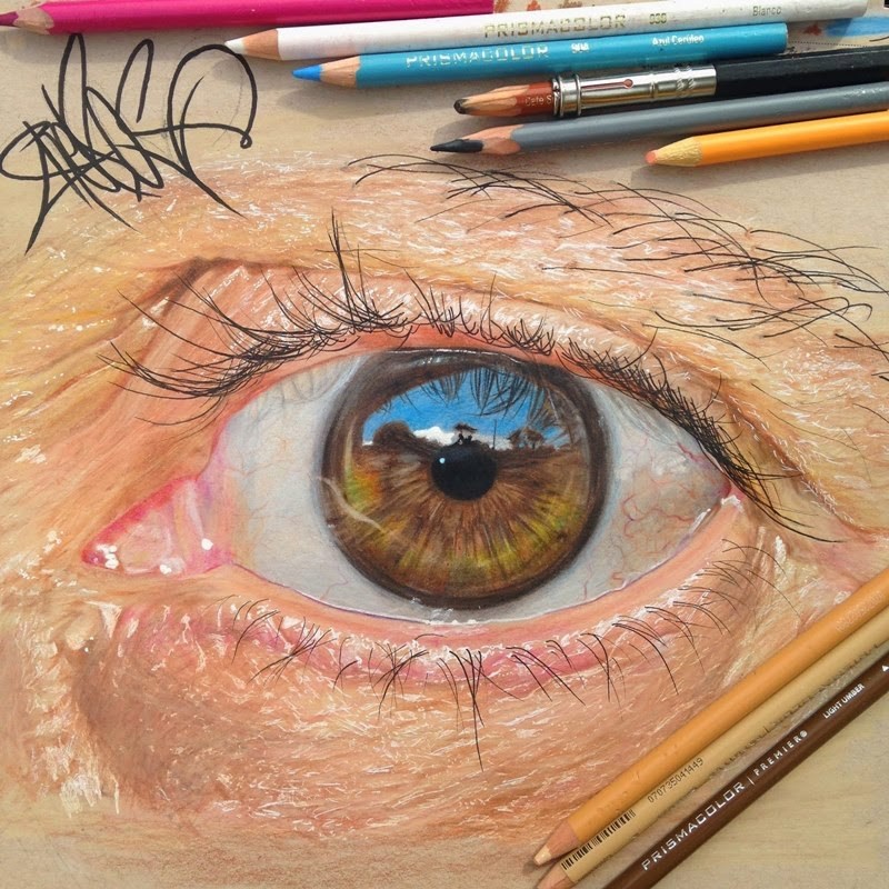 Eye Drawings | Drawn by Pencil Colors