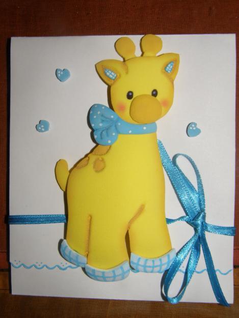Tarjetas de invitación de cumpleaños infantiles en foami - Imagui