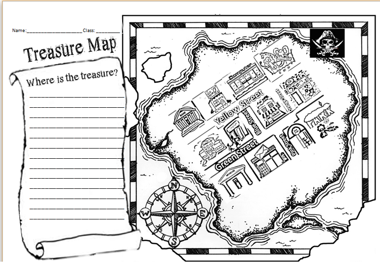 Making Treasure Maps Directions Lesson Project Mrs Baias – Map Directions Worksheet