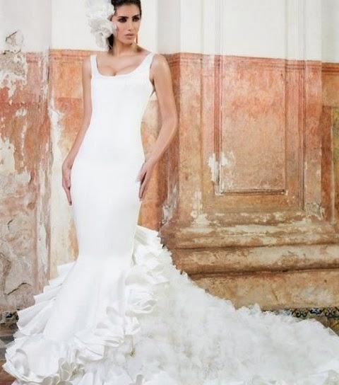 vestidos de novia con aire flamenco – vestidos baratos