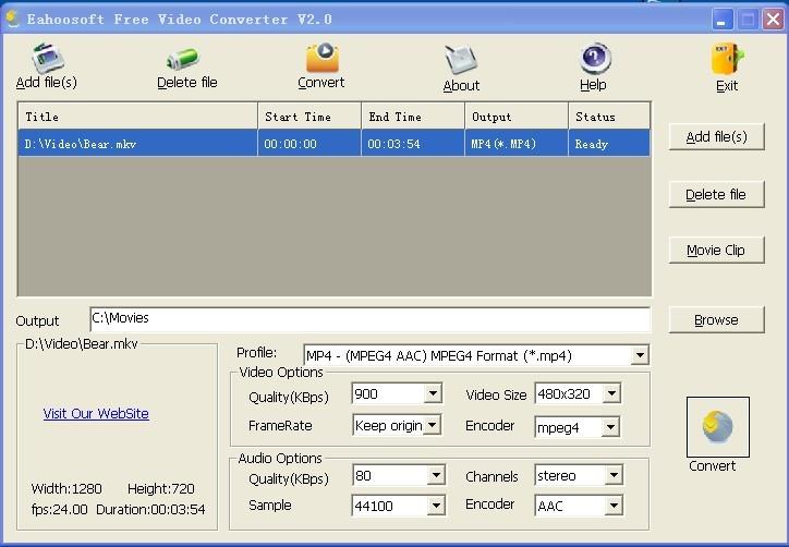 Eahoosoft Free Video Converter Descargar