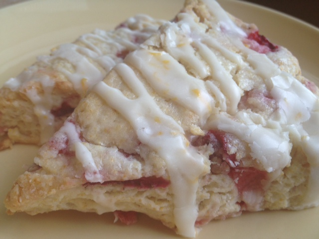 ... Love...: Fresh Strawberry & Meyer Lemon Scones with Meyer Lemon Glaze