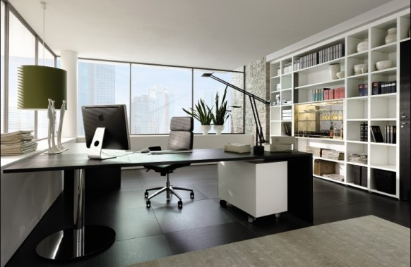 An executive office design, with luxury and style in mind. The