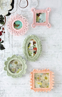 free crochet picture frame pattern