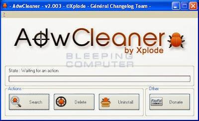 一鍵清除首頁綁架、工具列、惡意軟體、廣告病毒,AdwCleaner V3.215 綠色免安裝版!