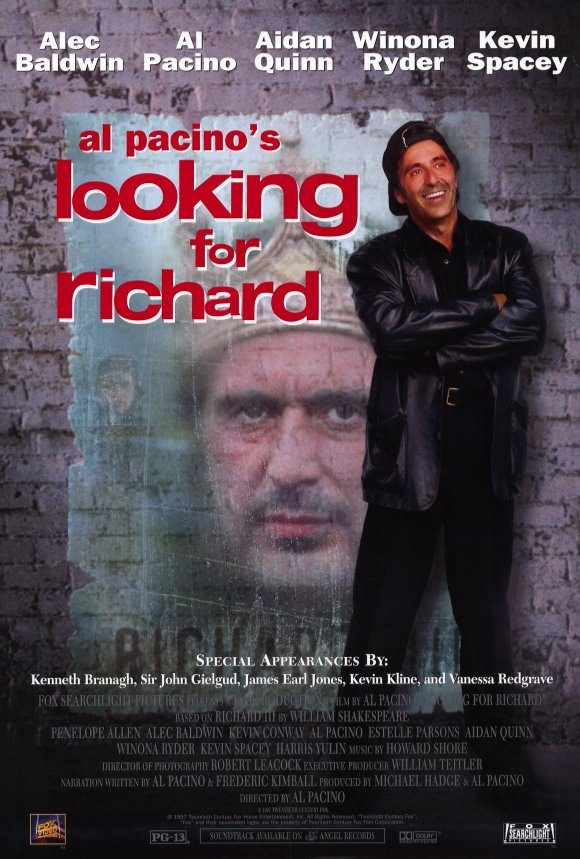 a comparison of looking for richard by al pacino and richard iii by william shakespeare Comparative study of text and context richard iii  comparative study of text and context richard iii  william shakespeare looking for richard by al pacino.