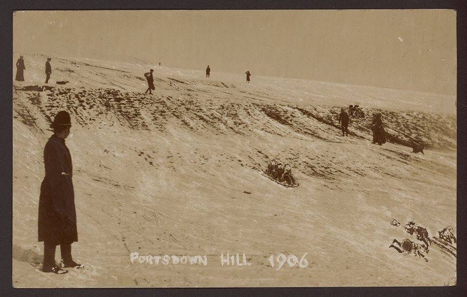 1906 snowballs Portsdown Hill