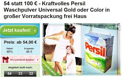 Groupon: Persil Color Waschpulver in der 24 kg Packung für 54 Euro