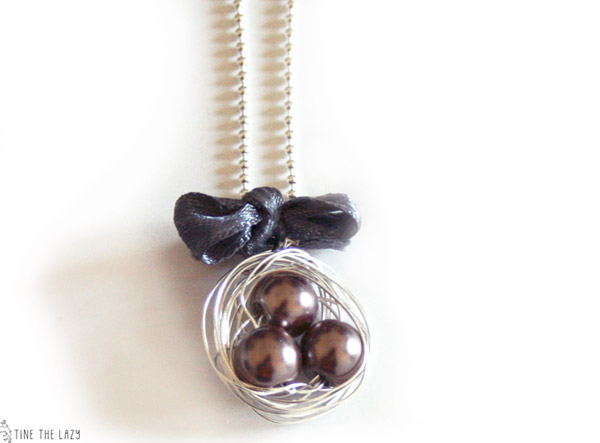 DIY Bird Nest Jewelry