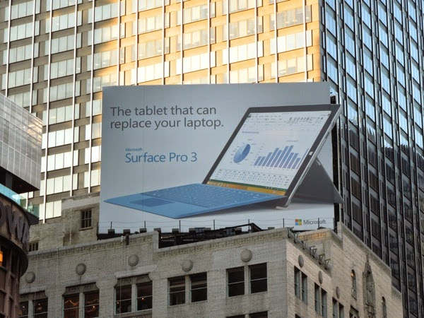Surface Pro 3 special extension billboard Times Square