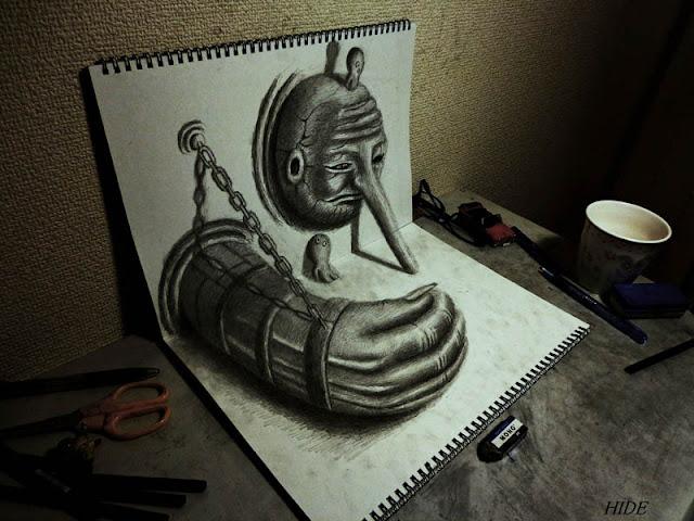 لوحات ثلاثية الأبعاد 3D+Pencil+Drawings+02