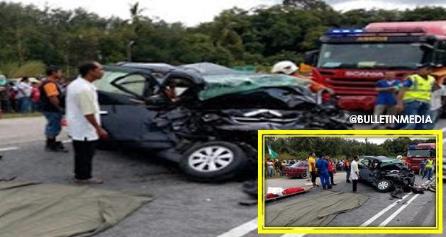 Sayu : 2 terbunuh kereta dipandu bertembung kren di Machang (6 Gambar)
