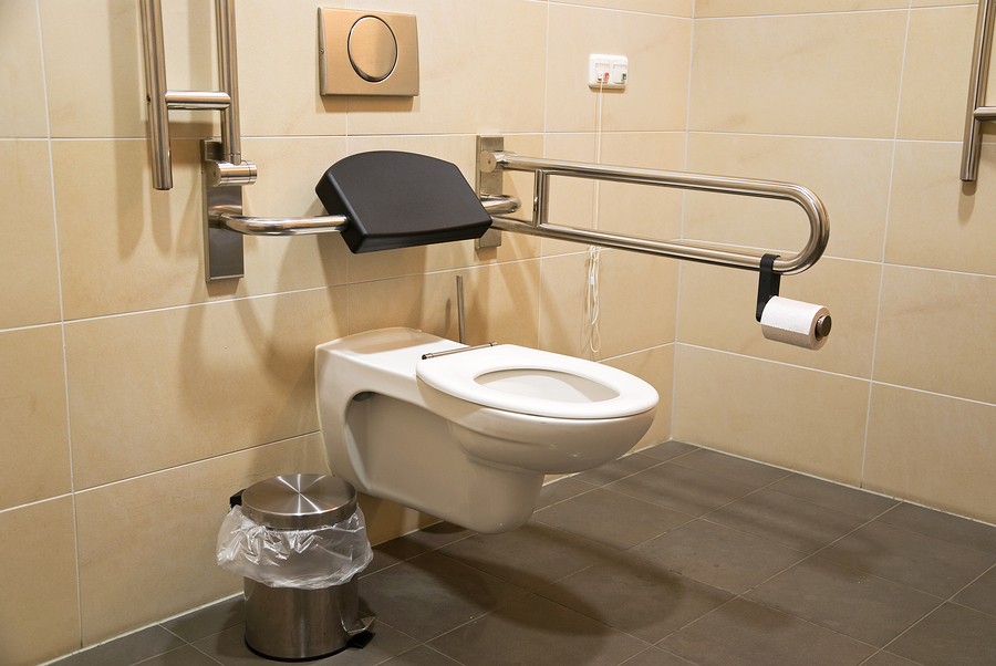 Design of washrooms accessibility is at the heart of for Handicapped bathroom design