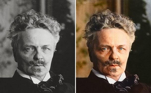 August Strindberg - manipulação digital - Sanna Dullaway