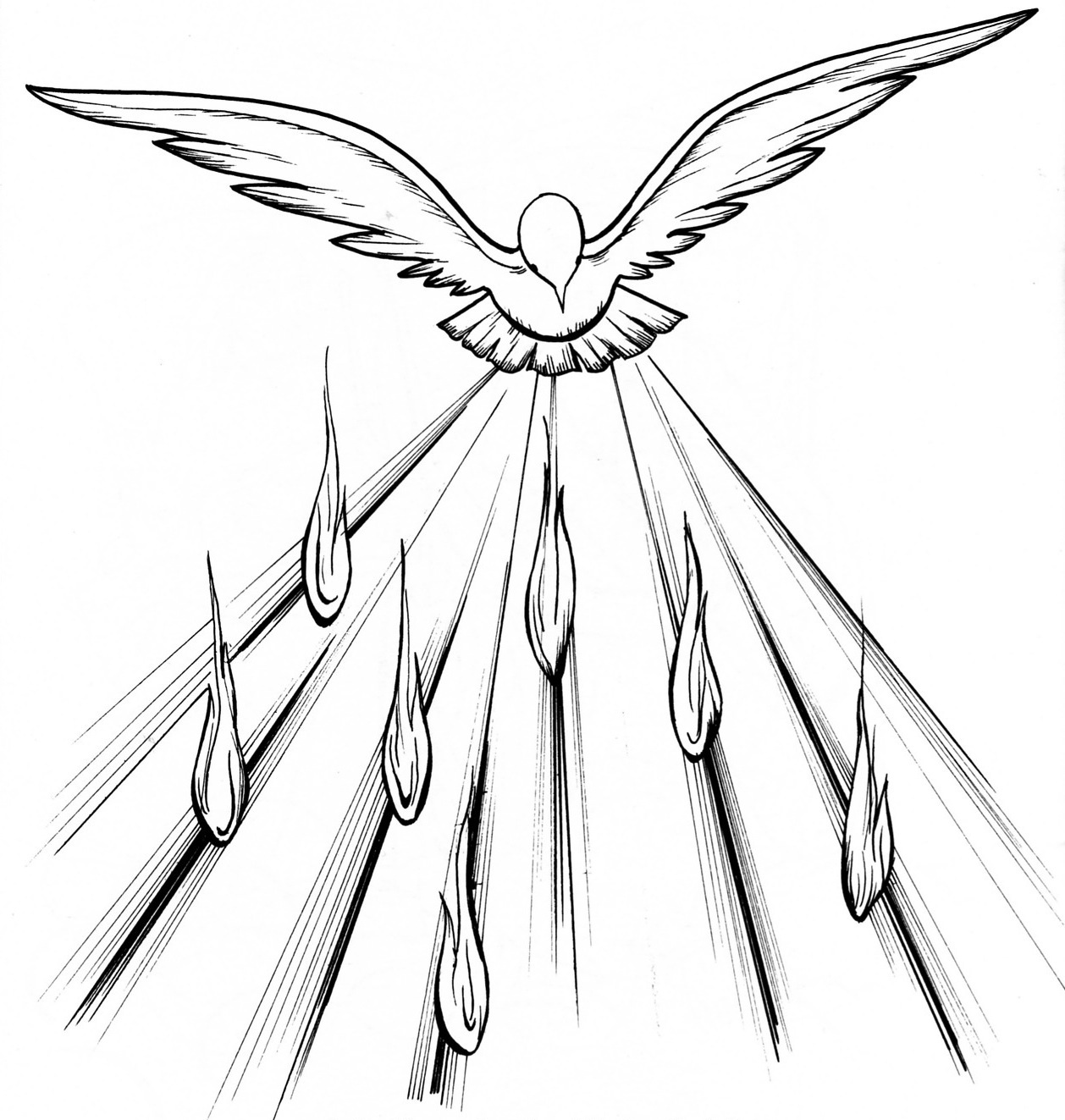 Holy Spirit Pentecost Coloring Pages Holy Spirit Coloring Pages