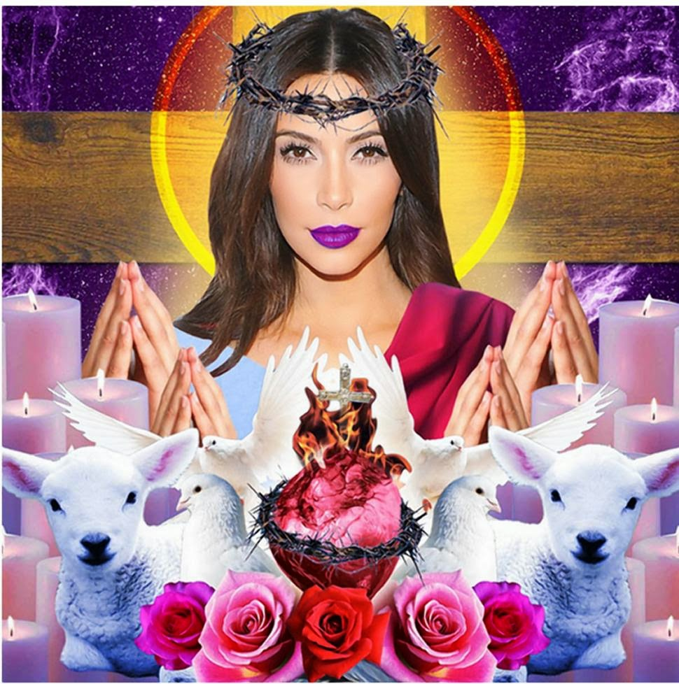 Brooklyn Art Exhibit Portrays Kim Kardashian as Jesus