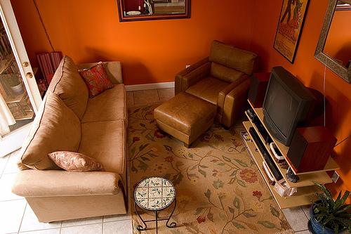 Muebles y decoración de interiores: el color naranja en las ...