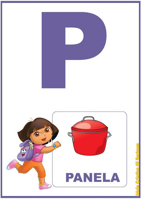 Alfabeto Dora Aventureira para imprimir