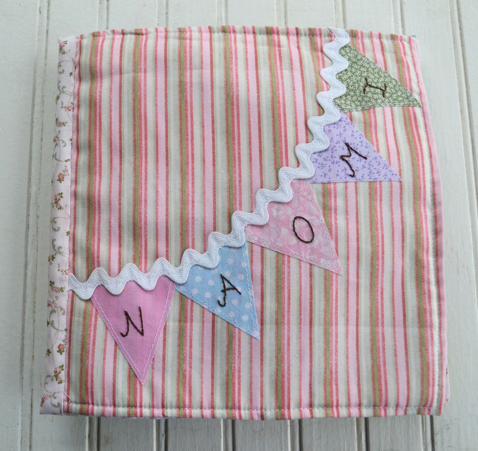 Bunting Quiet Book Page