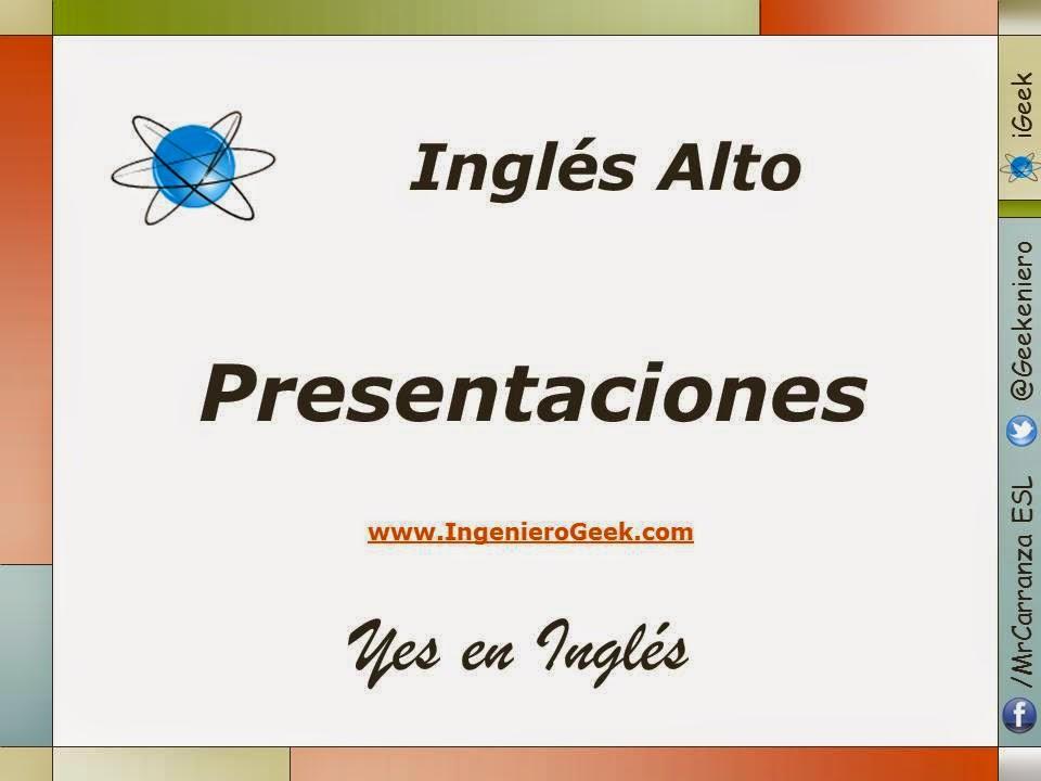 presentaciones del curso de inglés alto yes en inglés 3 igeek