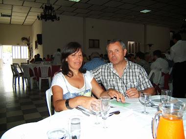 António Almeida e esposa
