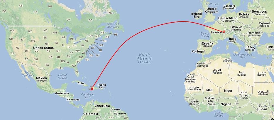 carte du monde cuba - Image