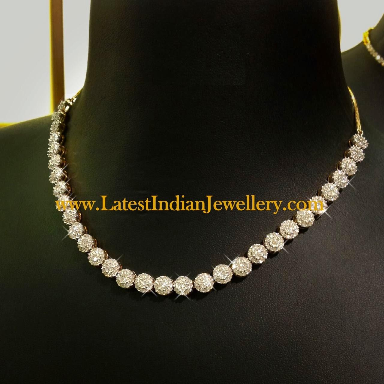 stylish single row diamond necklace. Black Bedroom Furniture Sets. Home Design Ideas