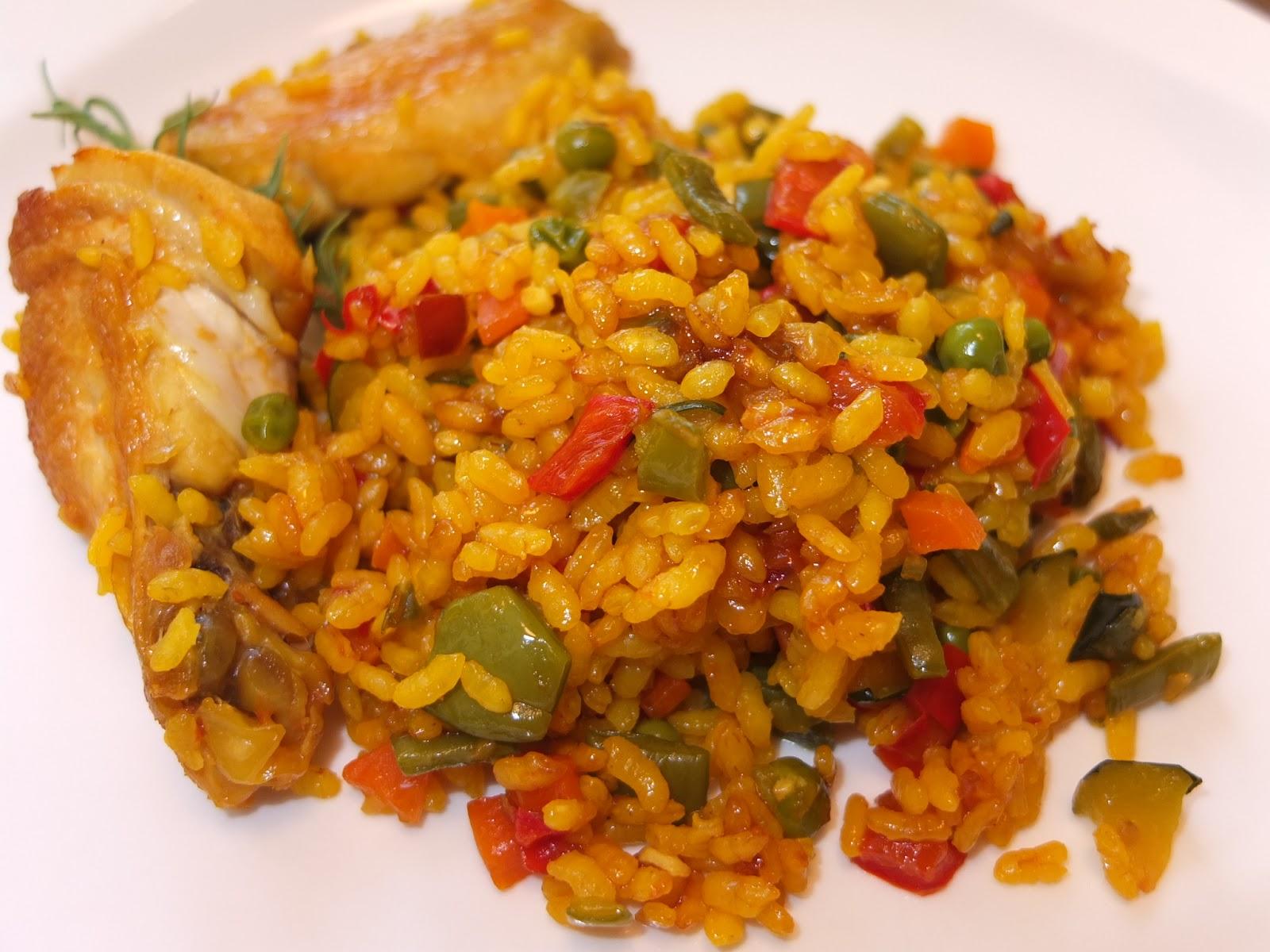 Cocinando con lola garc a arroz con verduras y alitas de - Arroz con pescado y verduras ...