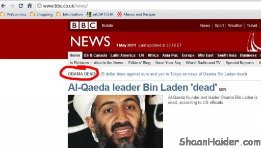 5 News Sources That Killed Obama Instead Of Osama Bin Laden
