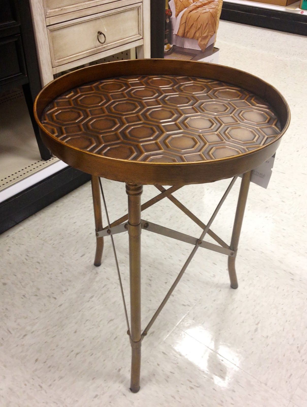 tables such great color choices threshold stamped metal accent table