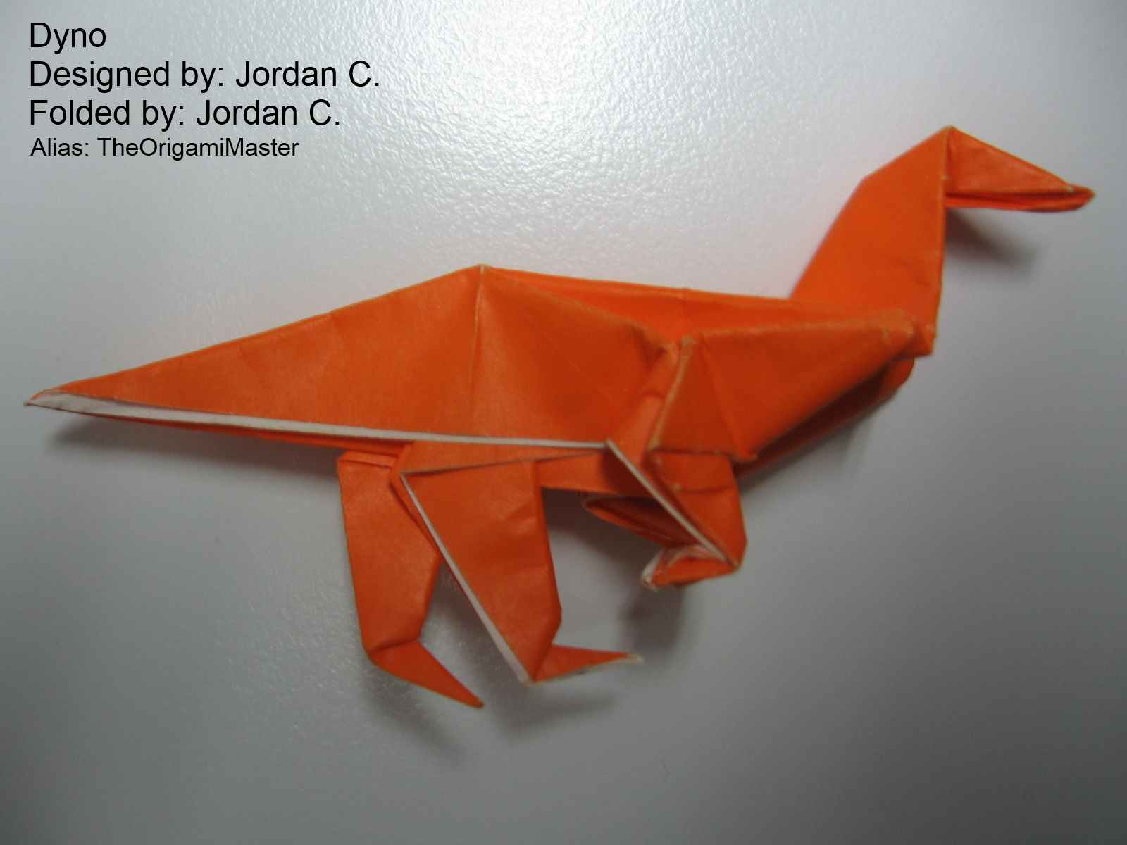 This Origami Dinosaur Is My First Design Made With The Teaching Of Robert Lang By His Book Secrets Im Proud It Simple