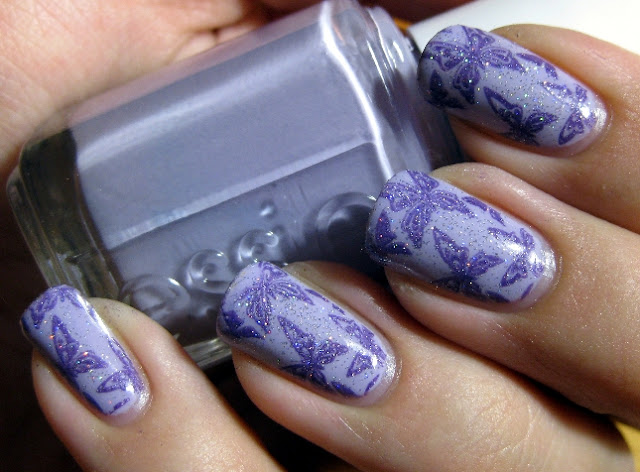 Essie Lilacism, A-England Lady of the Lake, China Glaze Fairy Dust, Bundlemonster