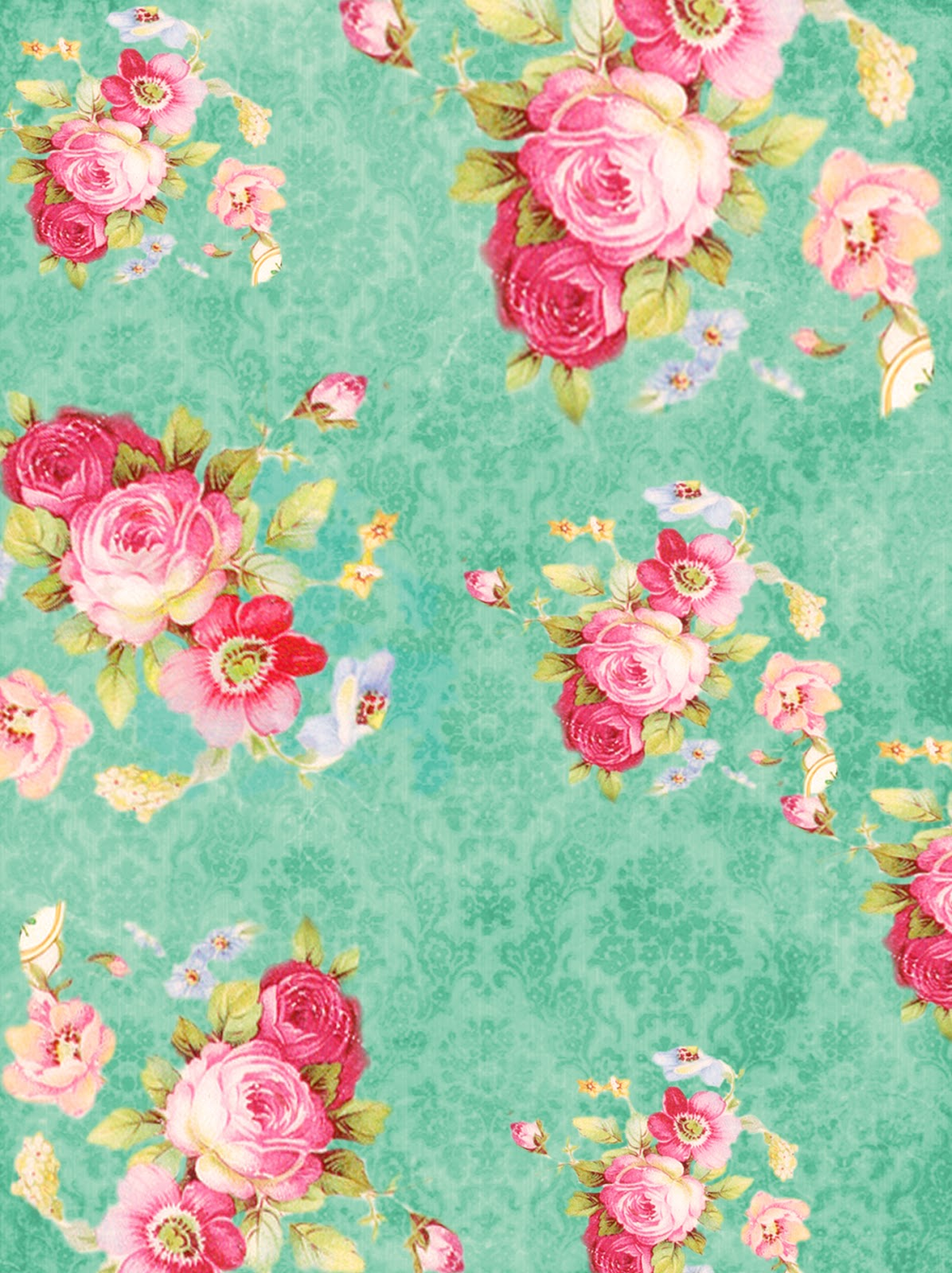 Vintage Pink And White Roses Vector Background - Vecteezy