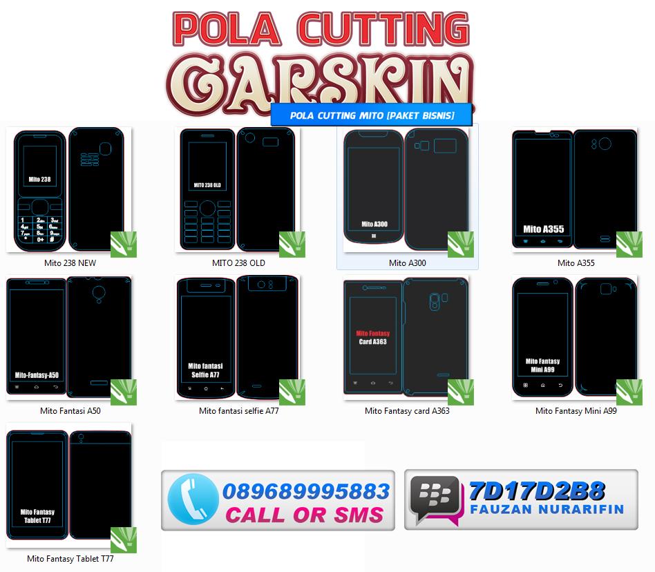 PAKET BISNIS Daftar Pola Cutting Skin HP