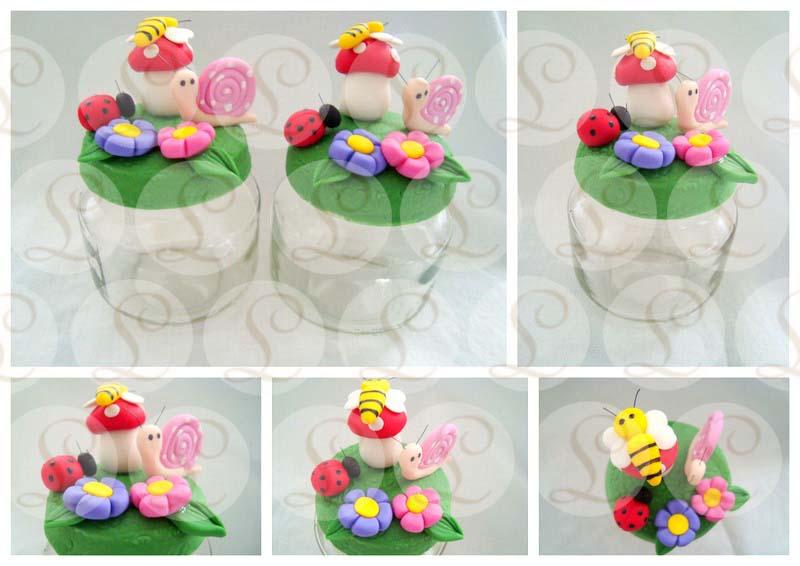 artesanato jardim encantado : artesanato jardim encantado:Lays Artesanato: Potinhos decorados biscuit – Tema Jardim Encantado!