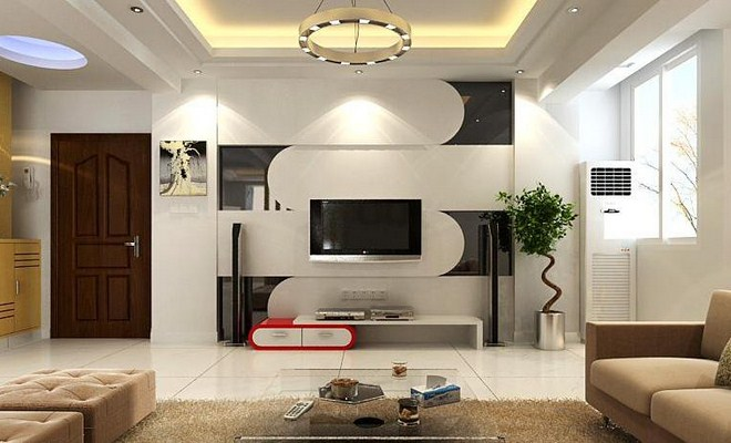 Simple living room designs and decorating ideas for for Family room tv wall ideas