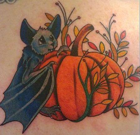 Tatuajes de calabazas para halloween y significado belagoria la web de los tatuajes - Murcielago en casa significado ...
