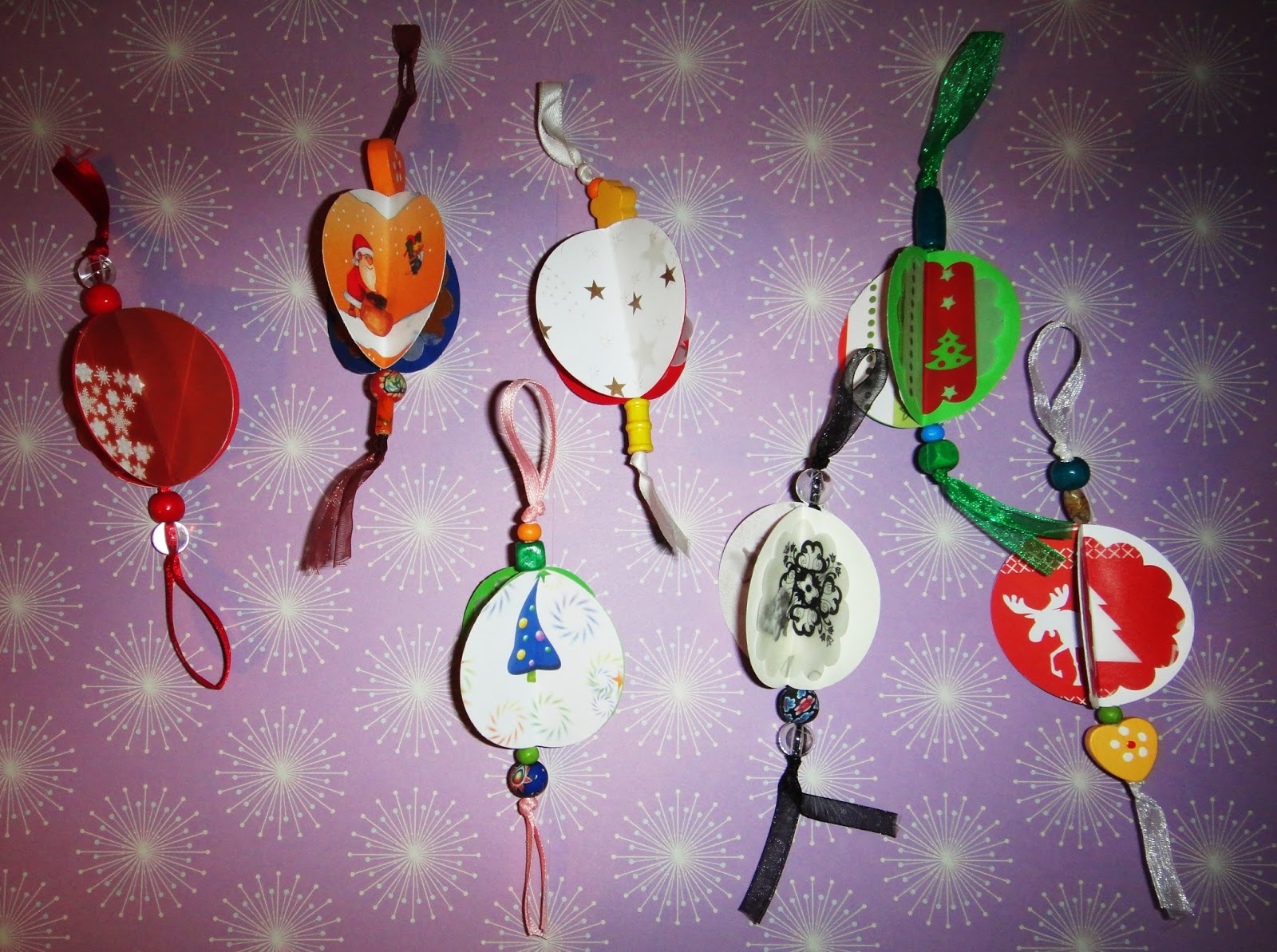 El taller de naid adornos de navidad con cartulina - Adornos de navidad con cartulina ...