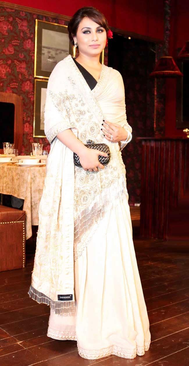 Rani Mukherjee In Sabyasachi Saree