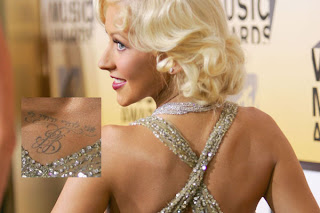Celebrity Christina Aguilera Tattoo Design