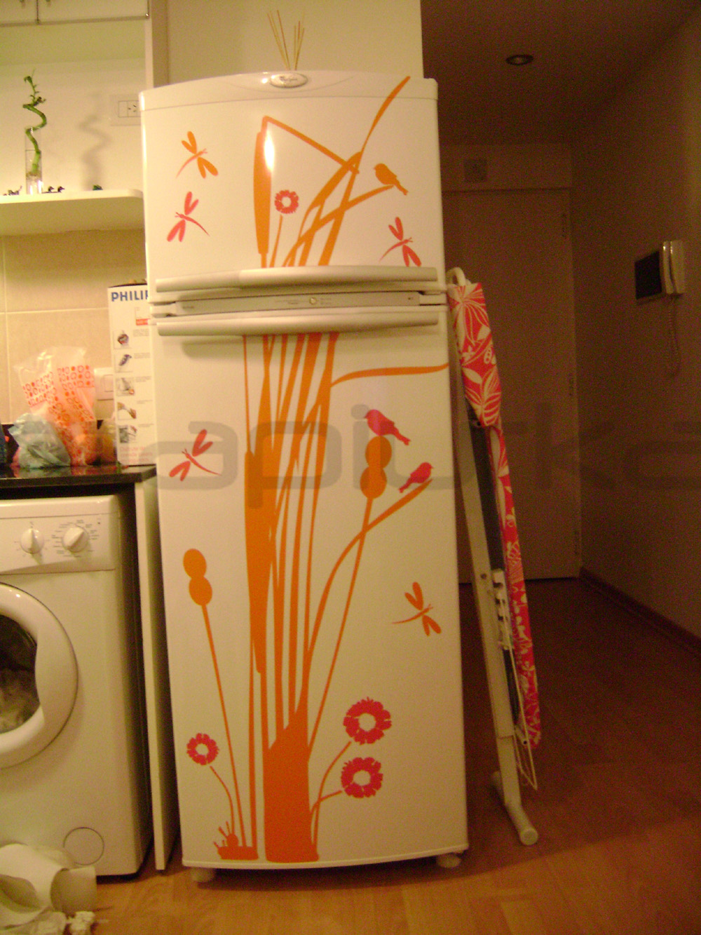 Azulejos Baño Fucsia: fucsia, combinando con la tela estampada de la tabla de planchar